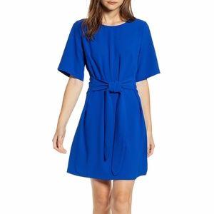 Chelsea 28 Front Tie Crepe Mini Shift Dress